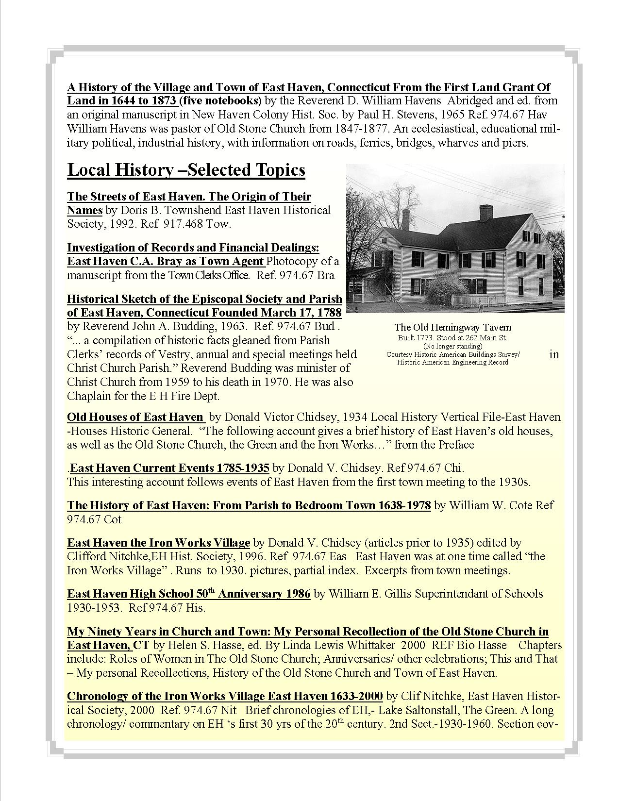East Haven Historical Books and Documents Online and at the